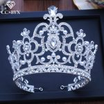 CC big tiaras and crowns hairbands luxury pageant engagement wedding hair accessories for bride <b>jewelry</b> shine rhinestone XY205