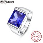 Top Quality Elegant 925 Sterling <b>Silver</b> Engagement Rings emerald AAA Tanzanite CZ Sapphire Stones Rings for Woman Fine <b>Jewelry</b>