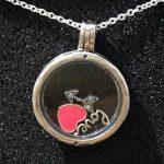 Real 925 Sterling Silver Necklace Enamel Love Heart Arrow Charm Locket Necklace For Women <b>Wedding</b> Gift fit Lady Fine <b>Jewelry</b>