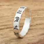 Silver <b>jewelry</b> <b>handmade</b> silver rings retro fine version of male and female six words ring