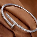 Hot selling brand stainless steel bracelet for women full CZ carter nail love Bangle <b>Jewelry</b> Bracelet nail classic top quality