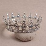 Elegant Luxurious European Vintage Silver Plated Crystal Quinceanera Crown Tiara For Bridal <b>Wedding</b> Party Hair <b>Jewelry</b>