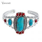 Vercret <b>Native</b> <b>American</b> Indian Natural 925 Silver Turquoise Stone Bangles For Women Wedding Vintage Coral Fine <b>Jewelry</b> Bracelet