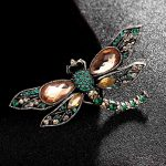 Zlxgirl <b>jewelry</b> small size dragonfly pin Brooches For Women Kids Gift metal <b>antique</b> gold and silver alloy insect hijab pins up