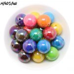 <b>Fashion</b> <b>Jewelry</b> Beads Choose Color 20MM 100PCS AB Shiny Solid Color Acrylic Beads Chunky Bead For DIY <b>Fashion</b> Children's <b>Jewelry</b>