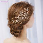 Jonnafe Gold Flower Hair Vine Bridal Piece <b>Handmade</b> Wedding Hair Accessories <b>Jewelry</b> for women party Crystal Headpiece