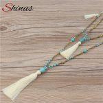 Shinus Boho Necklace Women Collier Statement Maxi Tassel Necklaces Long Bohemian <b>Jewelry</b> Bijoux Femme Womens Gift <b>Handmade</b> 2018