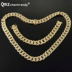 Luxury Full Bling AAA CZ Cubic Zirconia Jewelry Sets Gold <b>Silver</b> Cuban Chain Link Necklaces <b>Bracelets</b> Box Clasp Miami Cubra Sets