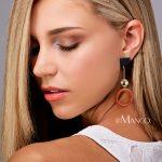 eManco Wholesale Acrylic Long Drop Earrings Coffee Color Beads Round Dangle Earrings 2018 New Arrivals <b>Fashion</b> <b>Jewelry</b> Accessory