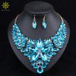 <b>Fashion</b> Crystal <b>Jewelry</b> Sets Bridal Necklace Earrings Sets Wedding Party Jewelery Dress Jewellery Decoration Accessories