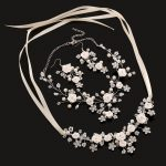3 piece Bridal <b>jewelry</b> sets wholesale flower necklace earrings handmade wedding <b>accessories</b> pearl <b>jewelry</b> set