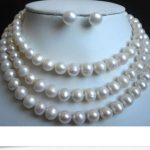 gorgeous 12-13mm baroque south sea white pearl necklace 38inch &<b>earring</b> 925silver