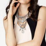 Best lady New Big Brand Layer Long Maxi Necklace Moon Pendant Collar Chokers Vintage <b>Jewelry</b> Women Metal <b>Handmade</b> Wholesale 3915