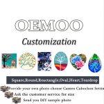 <b>Handmade</b> Professional Customized Ask Customer Service Flatback Glass Cameo Cabochon Domed DIY <b>Jewelry</b> Photo Pendant Setting