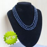fashion high quality 7-8mm Natural Round Black pearl beads women Diy Necklace <b>Jewelry</b> <b>making</b> design 17-19inch Wholesale