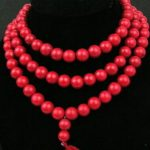 Tibetan <b>handmade</b> <b>jewelry</b> 108 rare Tibetan Buddhism red coral 10 mm beads necklace with silver