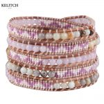 KELITCH <b>Jewelry</b> Seed Beads Stone Mixed Beach Bracelets <b>Handmade</b> Summer Bracelet For Women Gifts Customized LOGO Card Box