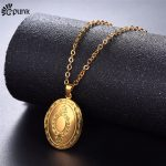 locket necklace pendant with chain gold/silver color photo storage girl mum xmas gift <b>antique</b> vintage colar <b>jewelry</b>