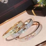 Hot Brand Pure 925 <b>Sterling</b> <b>Silver</b> <b>Jewelry</b> For Women Rose Gold Half Stone Bangle <b>Jewelry</b> <b>Silver</b> Bracelet Classic Top Quality