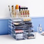 Big size transparent box <b>Fashion</b> cosmetics drawer <b>Fashion</b> Acrylic Cotton Swab Organizer Box Cosmetic Q-tip Holder L48