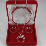 Prett Lovely Women's Wedding fashion designed red gem STONE bracelet, earing silver dragon pendant <b>jewelry</b> sets for Chris brinco