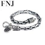 925 <b>silver</b> man s925 sterling <b>silver</b> <b>bracelet</b> men jewelry vintage style bangle minecraft pulseira masculina european HKB03