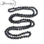 Beautiful 120cm women long <b>necklace</b>,black grey white baroque beads pearl <b>necklace</b> women