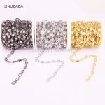 Wholesale 5 Meter Cubic Zirconia 5x5mm Square Beaded Chain With Mix Color Rosary Chain For <b>Jewelry</b> <b>Making</b>