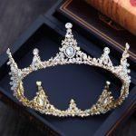 Dower me European style Gold Bridal Big Crown <b>Wedding</b> Prom Hair Tiara Piece Women Hair Accessories <b>Jewelry</b>