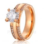 China <b>jewelry</b> factory best gift for wife and girlfriend classic rose gold color <b>wedding</b> engagement rings for women