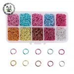 1Box Mixed Color Aluminum Wire Open Jump Rings <b>Jewelry</b> Findings for <b>Jewelry</b> <b>Making</b> DIY 6×0.8mm 8x1mm 10x1mm