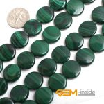 14mm coin shape malachite stone beads natural stone beads DIY loose beads for <b>jewelry</b> <b>making</b> strand 15 inches free shipping