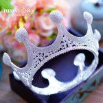 HIMSTORY Royal Queen Tiaras Large Rhinestones Crystal Crowns <b>Wedding</b> Bridal Pageant Prom Party Full Circle Hair <b>Jewelry</b>