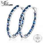 JewelryPalace Huge 13.5ct Natural Londun Blue Topazs Hoop <b>Earrings</b> 925 Sterling <b>Silver</b> Fine Jewelry For Women 2018 Luxury Design