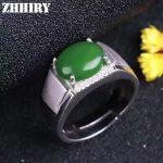 Man Ring Real Jasper Rings Natural Jade Genuine Gem Stone Solid 925 <b>Sterling</b> <b>Silver</b> Men and Women General <b>Jewelry</b>
