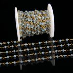 3x4mm Wholesale Chain Plated Brass Copper <b>Jewelry</b> <b>Supplies</b>,Light Blue Malaysian Faceted Rondelle Beads Rosary Chains