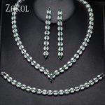ZAKOL Trendy White Leaf Wedding <b>Jewelry</b> Set Marquise Cut Cubic Zircon <b>Necklace</b> Earrings Bracelet Full Set For Women FSSP253