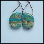 Wholesale gemstone,Blue Opal Woman <b>fashion</b> Earring Beads,<b>Jewelry</b> Gift Gem Customized,19x14x5mm,4.2g