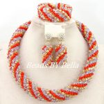 <b>Handmade</b> African <b>Jewelry</b> Sets Nigerian Beads Necklaces Bridals <b>Jewelry</b> Set Big Crystal Beads <b>Jewelry</b> Set Free Shipping ABY572