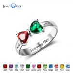 Promise Rings Personalized <b>Jewelry</b> Engrave Name Custom Birthstone 925 Sterling Silver Rings For Girlfriend (JewelOra RI102511)