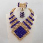 New Design <b>Handmade</b> Royal Blue/Champagne African Crystal <b>Jewelry</b> Sets <b>Jewelry</b> Sets Bridal Wedding <b>Jewelry</b> Free ShippingABL949