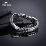 Ancient Silver <b>Fashion</b> Punk Buddha Bracelet for Women DIY Bangles Charms Bracelets Men Pulseira <b>Jewelry</b> Gifts B1019-16