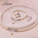 Wedding freshwater pearl <b>jewelry</b> set for women,genuine natural pearl necklace <b>jewelry</b> sets mother anniversary gifts white
