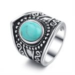 Vintage Rings For Women Girls <b>Antique</b> Tibetan Silver Statement Ring With Blue Stone Boho <b>Antique</b> Rings Indian <b>Jewelry</b> Gift A0198