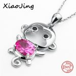 New style 925 sterling silver cute animal monkey pendant chain necklace European diy fashion <b>jewelry</b> <b>making</b> for women gifts