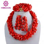 Charms Square Pink Coral Beads <b>Jewelry</b> Set Twisted Coral Cluster Costume <b>Jewelry</b> Big Set Latest Fashion CNR075