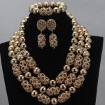 2017Gold Fashionable Nigerian Beads For Women African Costume <b>Jewelry</b> Sets New <b>Handmade</b> Bridal <b>Jewelry</b> Sets Free Shipping ABL642
