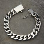 Vintage S925 Whip Chain Rock Punk Bracelet Male <b>Sterling</b> <b>Silver</b> Domineering Fashion European And American Personality <b>Jewelry</b>
