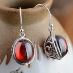 New arrival <b>Sterling</b> <b>silver</b> <b>jewelry</b> handmade red corundum thai <b>silver</b> Women earrings,<b>silver</b> earrings for birthday gift