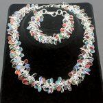 "Hermosa Multi-Precious Stones SPLENDID RED CORAL BLACK ONYX PERIDOT 925 Sterling <b>Silver</b> <b>Bracelets</b> 8 "" + Necklaces 20″ Set"